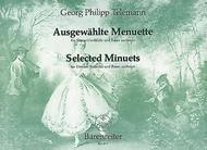 Ausgewahlte Menuette for Descant Recorder (Violine, Querflote, Viola da gamba) und Basso continuo TWV 34