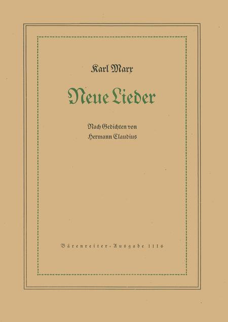 Neue Lieder Nach Gedichten Von Hermann Claudius Op 29