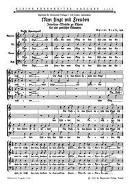Man singt mit Freuden vom Sieg