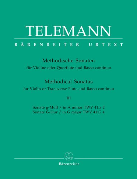 Twelve Methodical Sonatas for Violin or Flute and Basso continuo