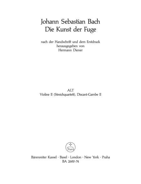 The Art of Fugue, BWV 1080