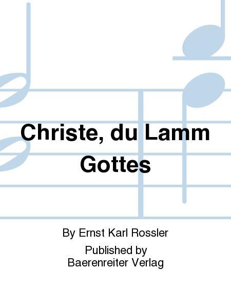 Christe, du Lamm Gottes (1954)