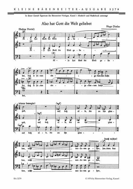 Also hat Gott die Welt geliebet, Op. 5/16