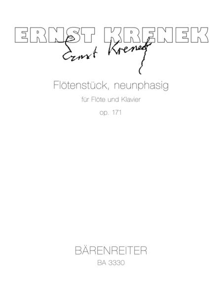 Flotenstuck neunphasig for Flute and Piano op. 171