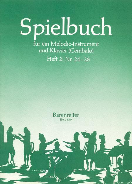 Spielbuch fur ein Melodieinstrument und Klavier (Cembalo), Band 2