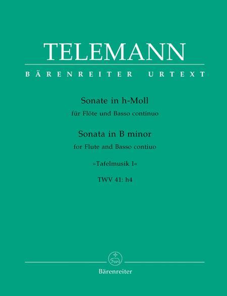 Sonata for Flute and Basso continuo No. 1 b minor TWV 41:h4