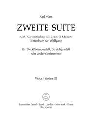 Zweite Suite nach Tanzen aus Leopold Mozarts Notenbuch fur Wolfgang