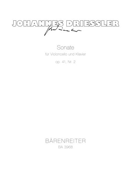 Sonate fur Violoncello und Klavier Nr. 2, op. 41 (1956)