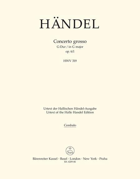 Concerto grosso G major, Op. 6/1 HWV 319