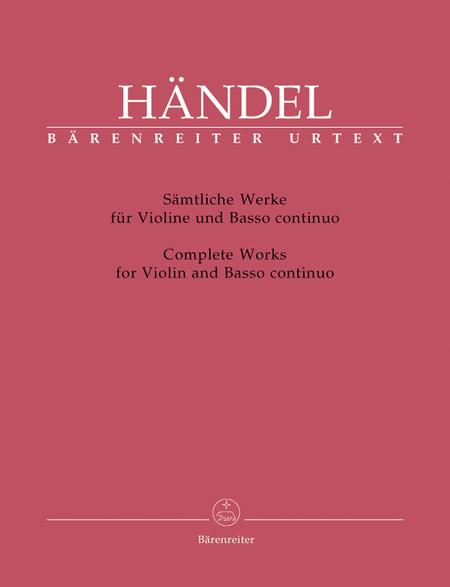 Complete Sonatas For Violin And Basso Continuo