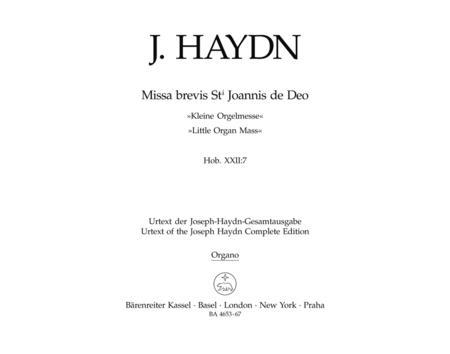 Missa brevis Sancti Joannis de Deo Hob.XXII:7 'Little Organ Mass'