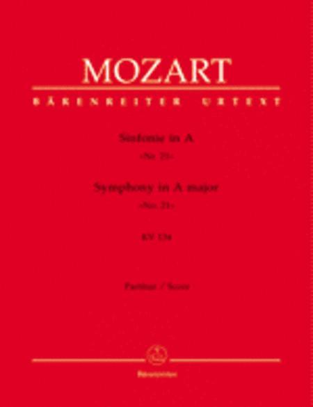 Symphony, No. 21 A major, KV 134
