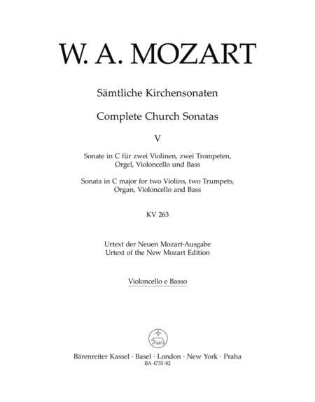 Samtliche Kirchensonaten, Heft 5 C major, KV 263