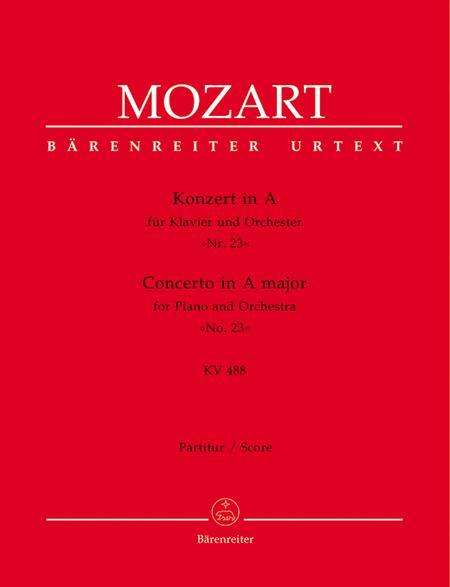 Concerto for Piano and Orchestra, No. 23 A major, KV 488