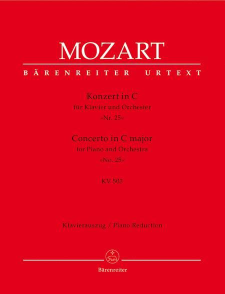 Concerto for Piano and Orchestra, No. 25 C major, KV 503