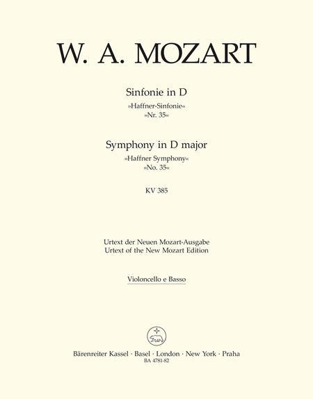 Symphony, No. 35 D major, KV 385 'Haffner Symphony'