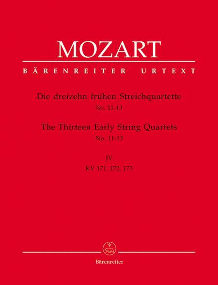Die dreizehn fruhen Streichquartette, Heft IV No. 11-13