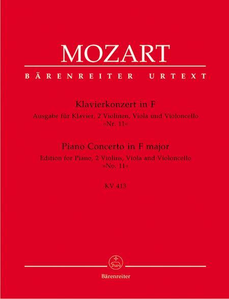 Concerto for Piano and Orchestra, No. 11 F major, KV 413