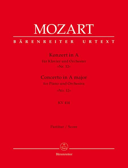 Concerto for Piano and Orchestra, No. 12 A major, KV 414