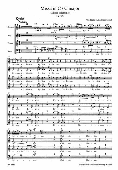 Missa C major, KV 337 'Missa solemnis'