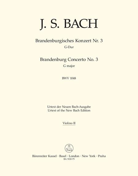 Brandenburg Concerto, No. 3 G major, BWV 1048