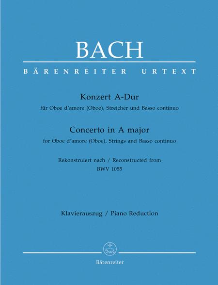Konzert for Oboe d'amore (Oboe), Streicher und Basso continuo A major