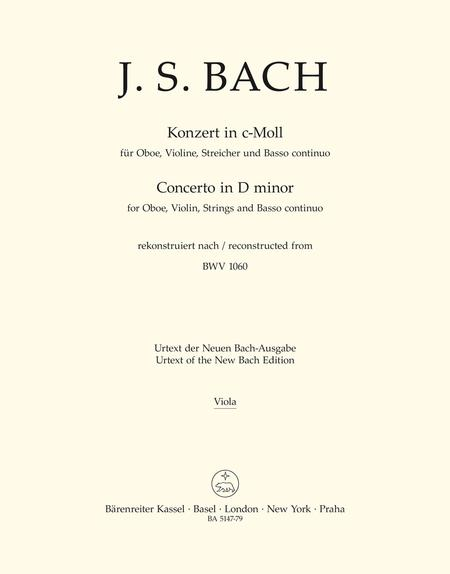 Concerto for Oboe, Violin, Strings and Basso continuo c minor