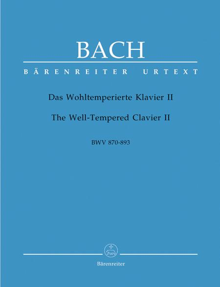 The Well-Tempered Clavier II, BWV 870-893