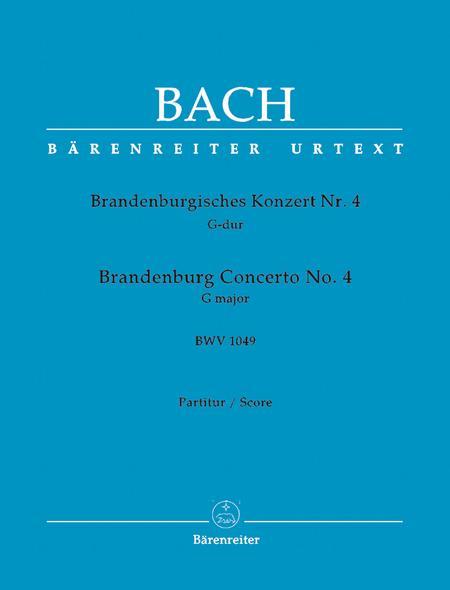 Brandenburg Concerto, No. 4 G major, BWV 1049