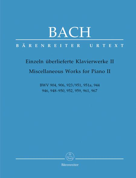 Miscellaneous Works For Piano, Volume II