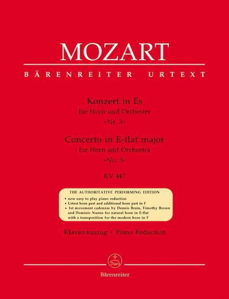 Concerto for Horn and Orchestra, No. 3 E flat major, KV 447