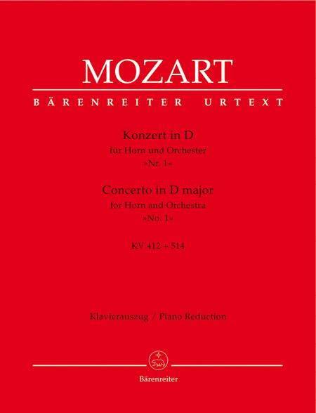 Concerto for Horn and Orchestra No. 1 D major KV 412 + 514 (386b)