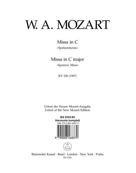 Missa C major, KV 220 (196b) 'Sparrow Mass'