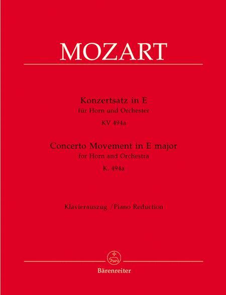 Konzertsatz for Horn and Orchestra E major KV 494a