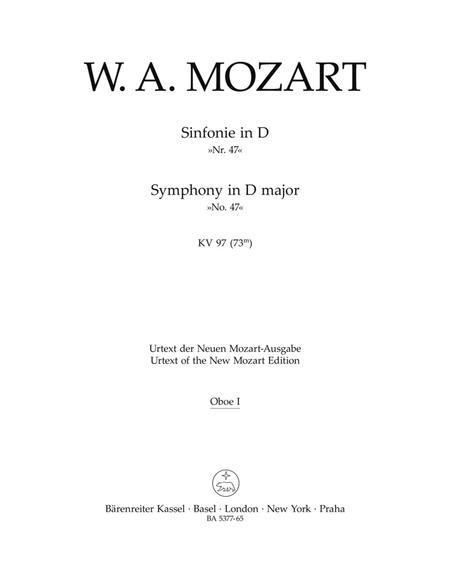 Symphony, No. 47 D major, KV 97 (73m)