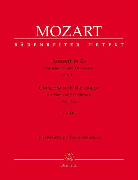 Concerto for Piano and Orchestra, No. 14 E flat major, KV 449