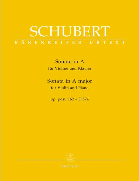 Sonata for Violin and Piano A major, Op. post.162 D 574