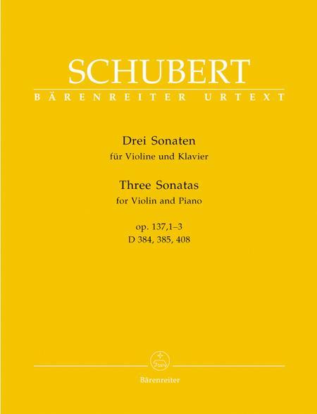 Three Sonatas for Violin and Piano, Op. 137, 1-3
