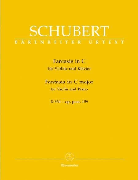 Fantasia for Violin and Piano C major, Op. post.159 D 934