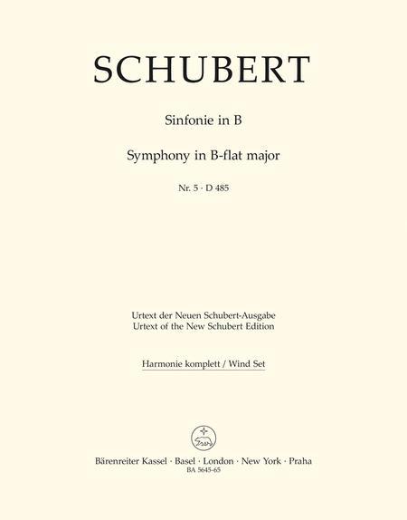 Symphony, No. 5 B flat major D 485