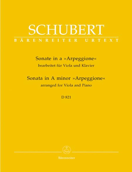 Sonata In A Minor For Viola And Piano, D 821