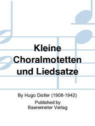 Kleine Choralmotetten und Liedsatze