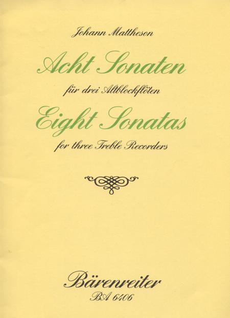 Acht Sonaten for 3 Treble Recorders op. 1/3-10