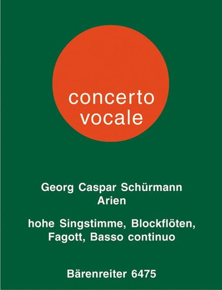 Sechs Arien aus Opern des Barock for High Voice, 1 or 2 Treble Recorders and Basso Continuo