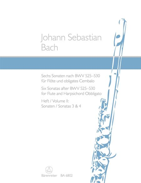 Six Sonatas after BWV 525-530 for Flute and Harpsichord obbligato