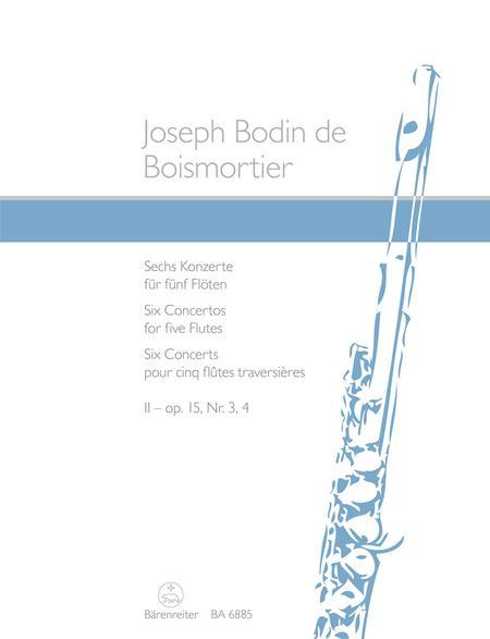 Six Concerts for five Flutes op. 15