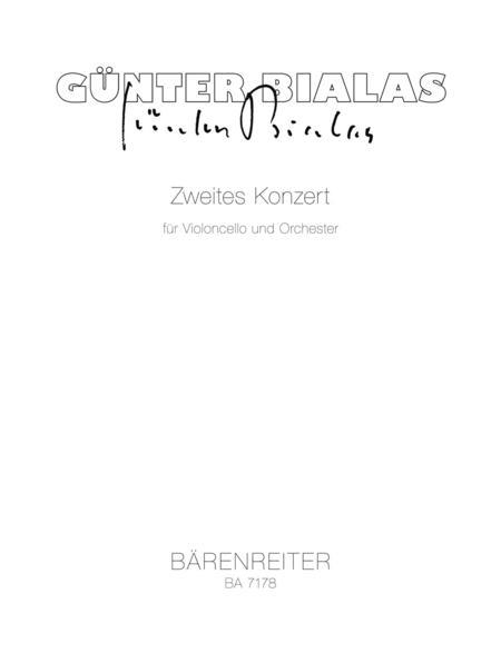 Concerto for Violoncello and Orchestra, No. 2