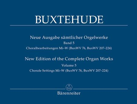 Neue Ausgabe samtlicher Orgelwerke, Band 5