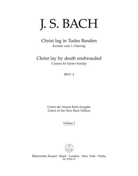 Christ lay by death enshrouded, BWV 4