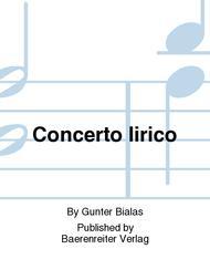 Concerto lirico (1967) (Konzert/Lyrisches Konzert)